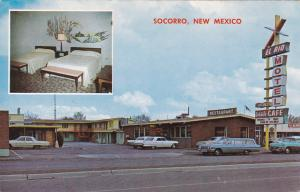 2-Views, Downtown SOCORRO, New Mexico; El Rio Motel, 40-60s