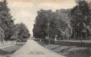 H2/ Clarks Green Pennsylvania Postcard 1908 Main Street Homes
