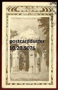 5076- MONTREAL Postcard 1910 Eucharistic Congress Arc Coin St.Hubert et Cherrier