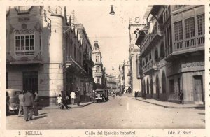 Melilla Spain Calle del Ejercito Espanol Real Photo Vintage Postcard JF235002