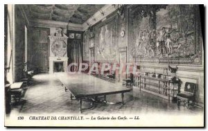 Old Postcard Chateau de Chantilly Galerie des Cerfs