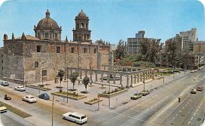 Mexico Old Vintage Antique Post Card Corona Avenue and the Church of St Franc...