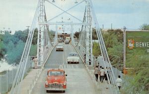 Reynosa MX-McAllen TX~1951 Red Chevy Suburban Police? Border XIng Int'l Bridge