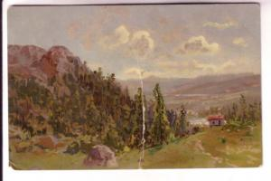 Early Card, Used 1903 in England, Meissner & Buch, Germany, Country Scene