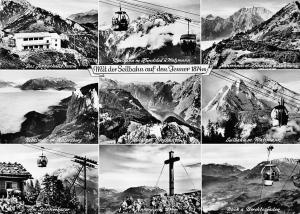 Mit der Seilbahn auf den Jenner, Berchtesgaden Seilbahn m. Watzmann