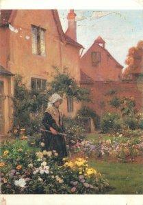 Art Postcard The Farm Garden painting by William Teuloni Blandford Fletcher