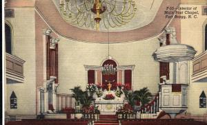 Interior of Main Post Chapel, Fort Bragg, Fayetteville, North Carolina, Unite...