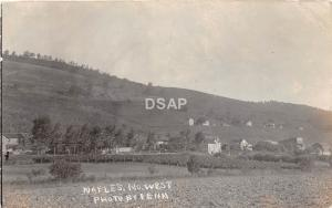 New York NY Real Photo RPPC Postcard 1921 NAPLES Looking North West HOMES