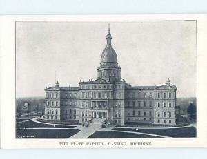 Unused Divided-Back STATE CAPITOL BUILDING Lansing Michigan MI HM5957