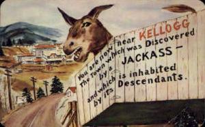 Noah S. Kellogg's Pesky Jackass Coeur d'Alene ID Unused