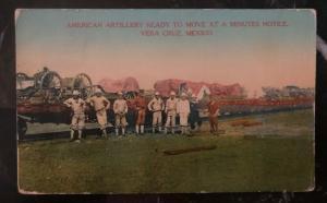 Mint USA Picture Postcard Artillery Ready To Move In Veracruz Mexico Invasion