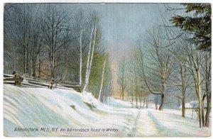 Adirondack Mts, N.Y., An Adirondack Road in Winter