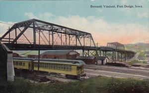 Bennett Viaduct With Train Fort Dodge Iowa