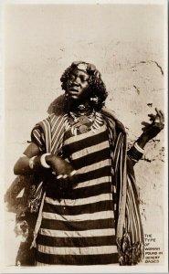 African Woman Buchanan Sahara Expedition Africa Unused RPPC Postcard E73