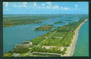 Island of Palm Beach Par 3 Golf Club Course Atlantic Lake Worth Florida Postcard