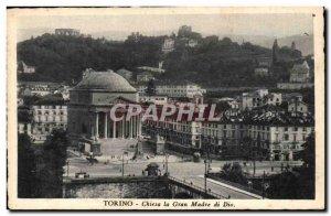 Old Postcard Italia Italy Torino Chiesa Gran Madre di Dio