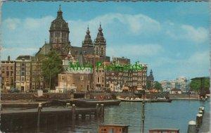 Netherlands Postcard - Amsterdam - Schreierstoren and St Nicolas Church RS25588