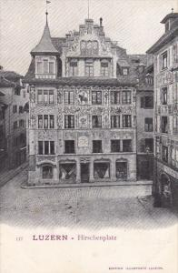 LUZERN, Switzerland, 1900-1910´s; Hirschenplatz