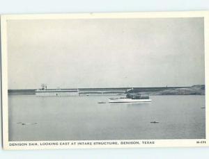 1940's DAM SCENE Denison - Near Sherman Texas TX G6532