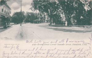 STAMFORD , Connecticut, PU-1906 ; Broad Street Corner Summer Street