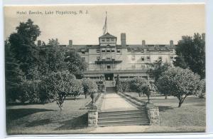 Hotel Breslin Lake Hopatcong New Jersey 1907 postcard