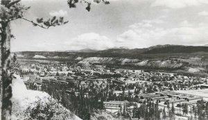 CF-476 Canada, Yukon, View of Whitehorse, Bird's Eye Real Photo Postcard RPPC