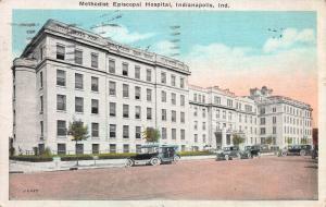 Methodist Episcopal Hospital, Indianapolis, Indiana, Early Postcard, Used