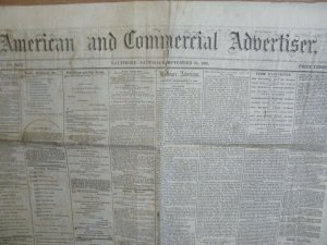 1866 BALTIMORE MD ADVERTISER NEGRO SUFFRAGE BASEBALL CONVENTION (PAID PLAYERS?)
