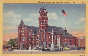 Exterior, Methodist Church and City Hall,  Danbury, Connecticut,  30-40s
