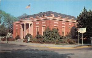 Georgetown Delaware~US Post Office~US Air Force? Sign on Sidewalk~1950s Postcard