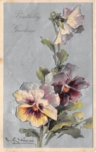 Artist Catherine Klein Postcard Old Vintage Antique Post Card Birthday Greeti...