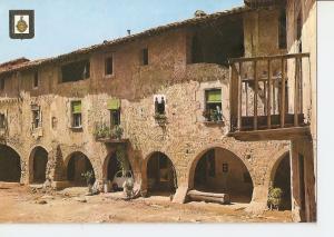 Postal 042715 : Santa Pau (Gerona). Porticos de la Plaza