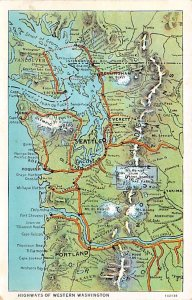 Maps Highways of Western Washington USA Unused