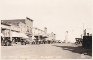RP: WAINWRIGHT , Alberta , Canada , 1910-20s ; 2nd Avenue Looking East