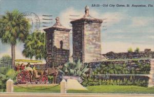 Florida Saint Augustine Old City Gates 1954