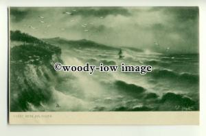 ar0474 - Rough Sea's on Coast of Falmouth - Artist G.E.Newton- Postcard - Tuck's