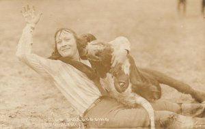 RP: Female Rodeo ; Fox Hastings Bulldogging , 1910-20s