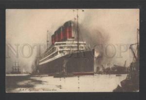 120433 Cunard Lane RMS AQUITANIA Ocean Liner Vintage PC
