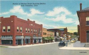 1940s East Palestine Ohio Market Street Business District Teich linen 10468