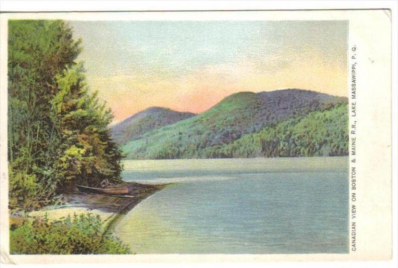 QUEBEC, Canada, 1900-1910's; Canadian View On Boston & Maine R.R., Leke Massa...