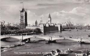 England London Houses Of Parliament From The River 1959 Real Photo