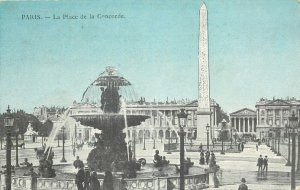 France Paris Place de la Concorde early postcard