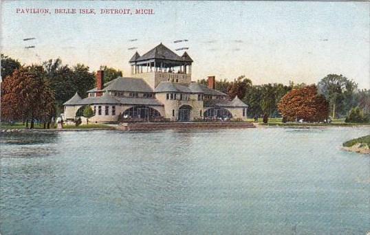 Michigan Detroit Pavilion Belle Isle 1908