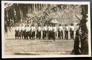 Mint Western Samoa Real Picture Postcard RPPC Martial Arts School