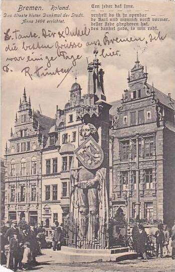 Germany Bremen Roland Denkmal 1908