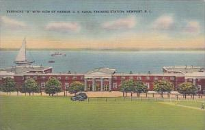 Rhode Island Newport Barracks B With View Of Harbor U S Naval Training Station