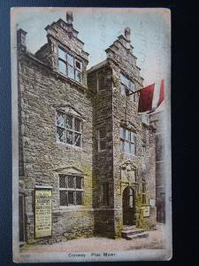 Wales Conway PLAS MAWR shows poster THE ROYAL CAMBRIAN ACADEMY c1907 Postcard