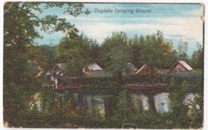 Oxfordshire; Shiplake Camping Ground PPC 1906 PMK To Miss Watson, Pevensey