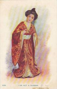 Geisha Girl In Costume I Am Not A Russian