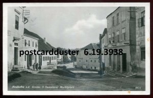 3938 - AUSTRIA Neuhofen an der Krems 1941 Marktplatz. Real Photo Postcard.